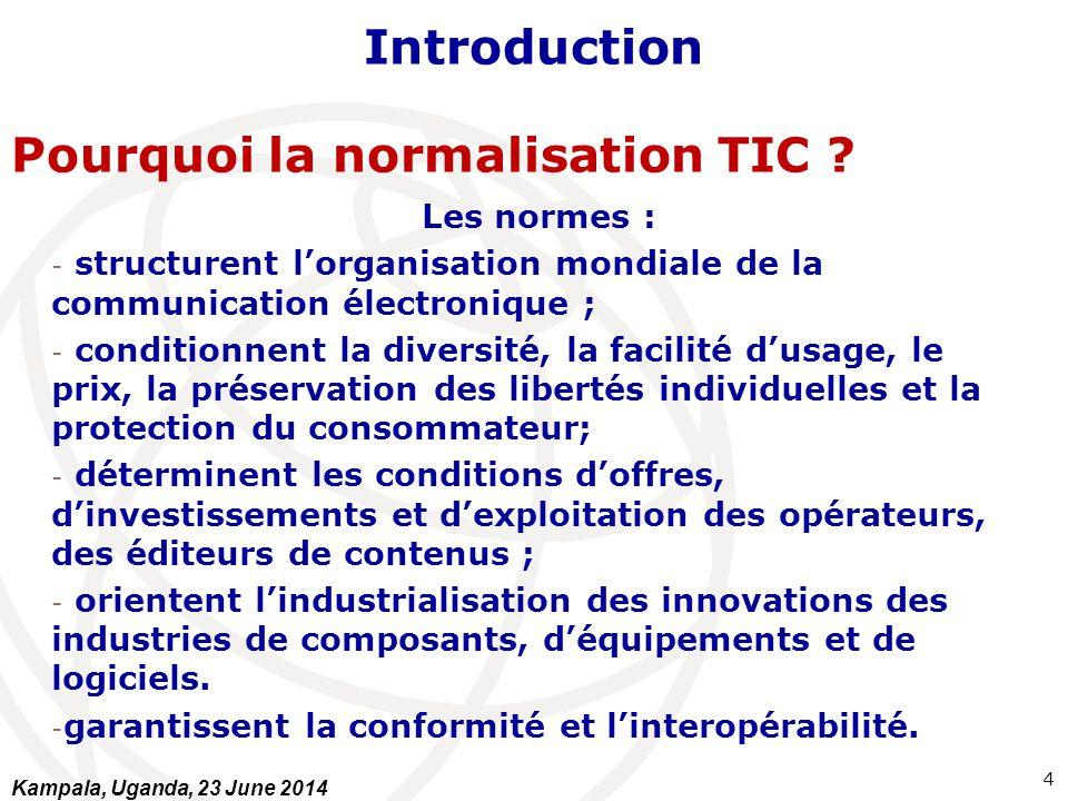 Pourquoi la normalisation TIC