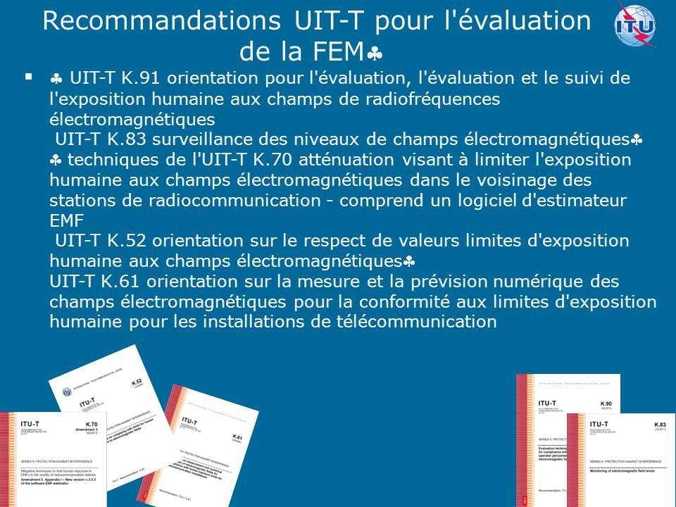 Recommandations UIT-T pour l évaluation de la FEM