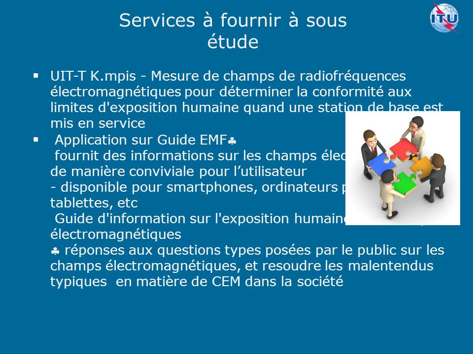 Services à fournir à sous étude