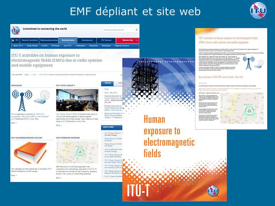 EMF dépliant et site web