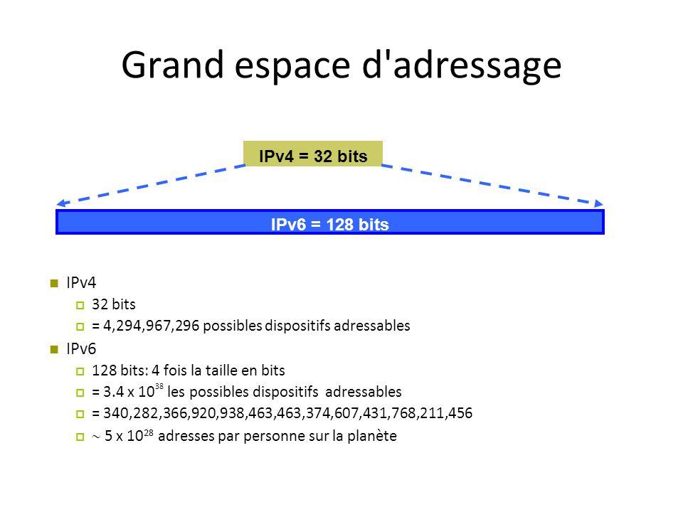 Grand espace d adressage