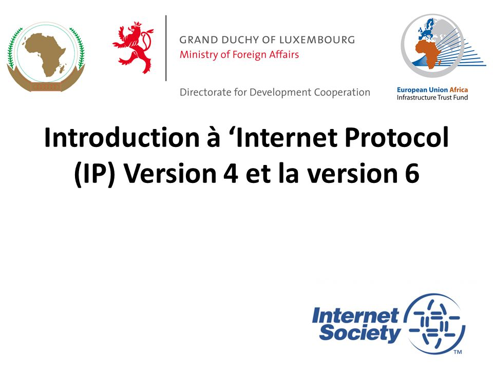 Introduction à 'Internet Protocol (IP) Version 4 et la version 6