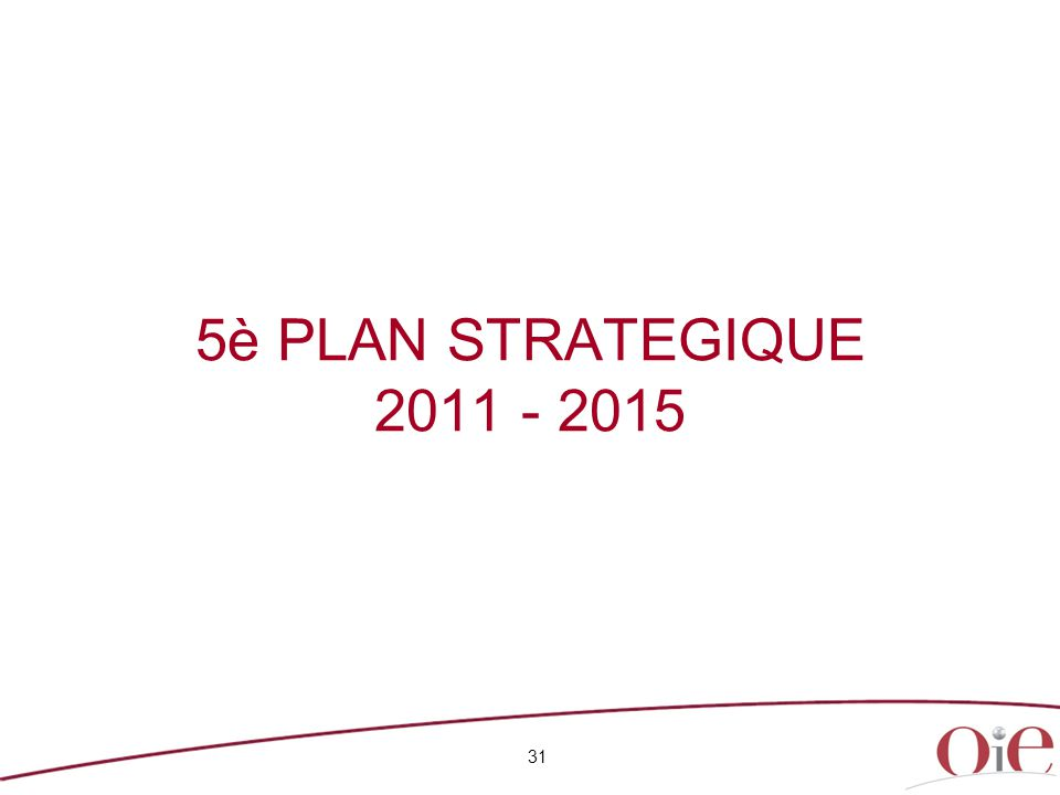 5è PLAN STRATEGIQUE 2011 - 2015