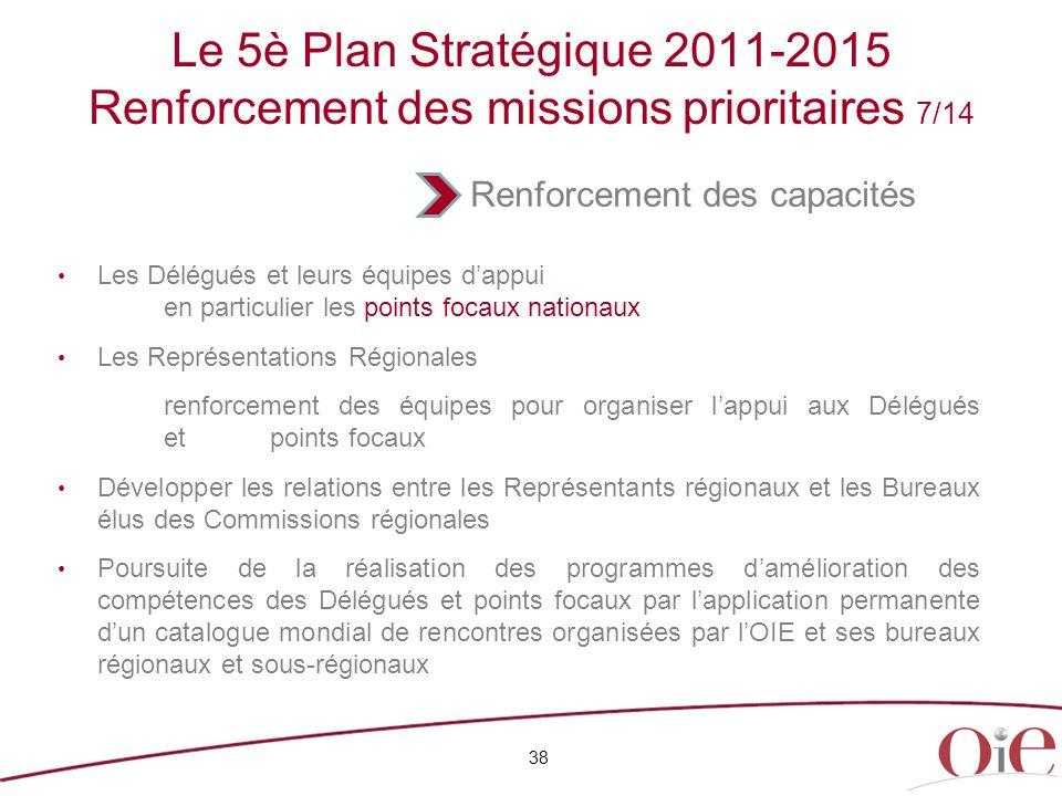 Le 5è Plan Stratégique 2011-2015 Renforcement des missions prioritaires 7/14
