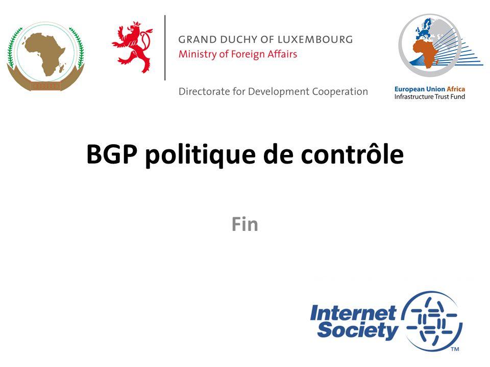 BGP politique de contrôle