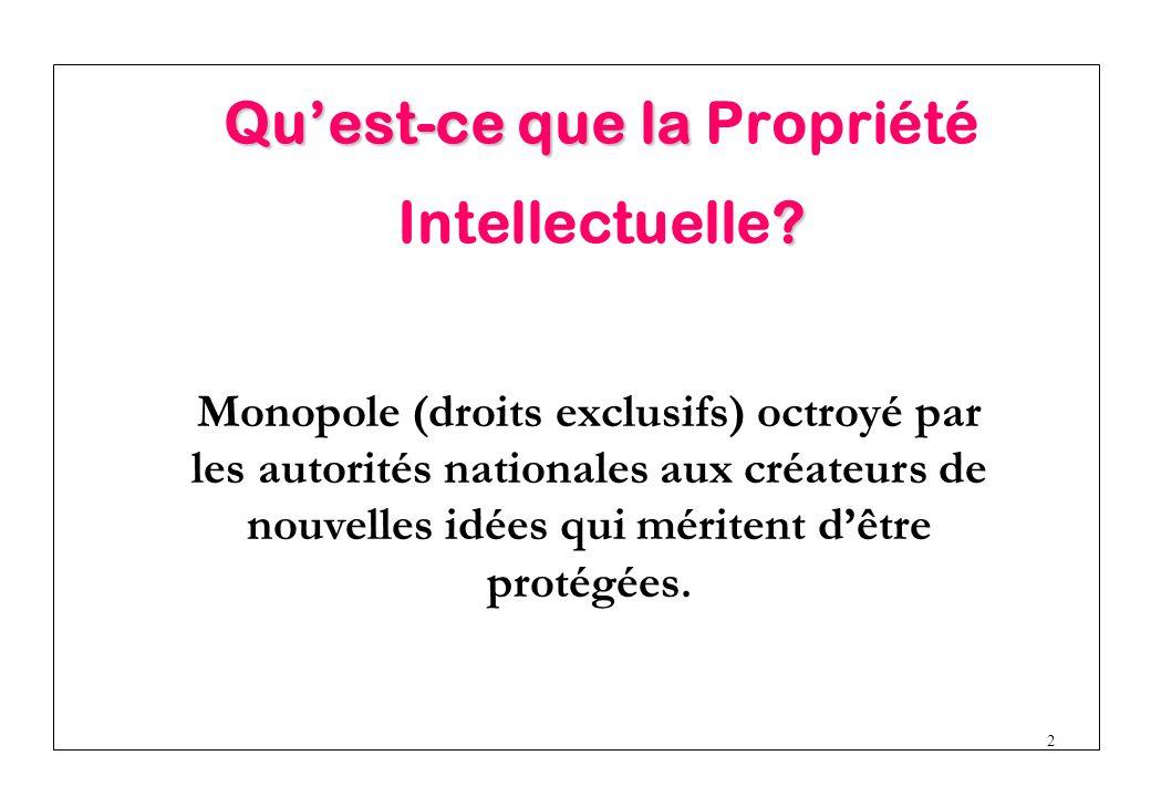 Qu'est-ce que la Propriété Intellectuelle