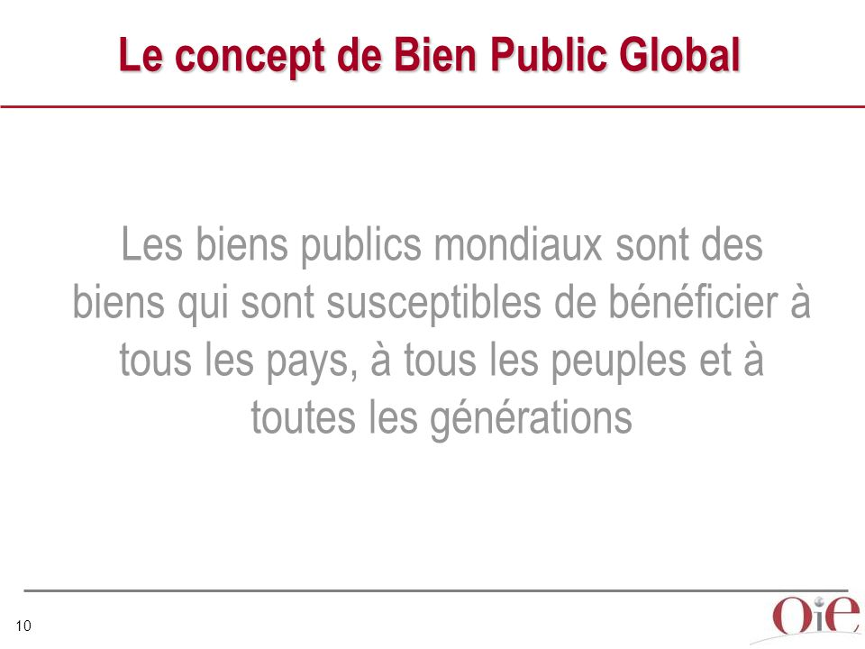Le concept de Bien Public Global