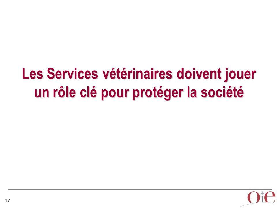 Les Services vétérinaires doivent jouer un rôle clé pour protéger la société