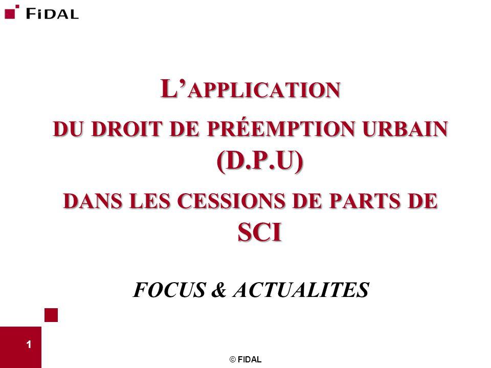 du droit de préemption urbain (D.P.U)