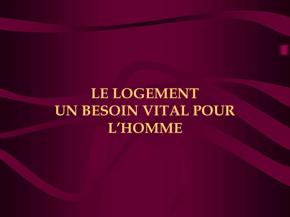 LE LOGEMENT UN BESOIN VITAL POUR L'HOMME