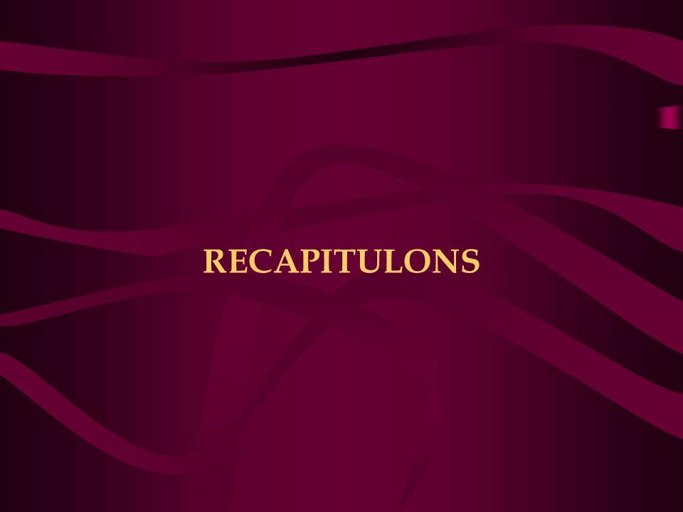 RECAPITULONS