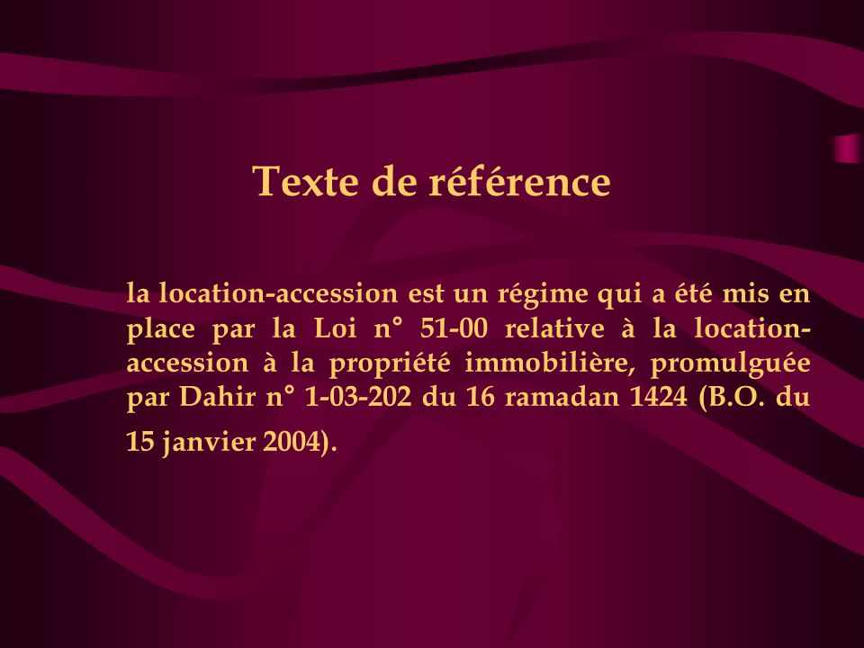 Texte de référence