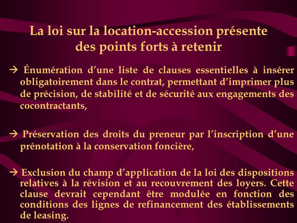 La loi sur la location-accession présente des points forts à retenir