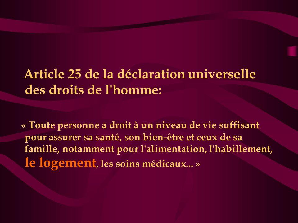 Article 25 de la déclaration universelle des droits de l homme:
