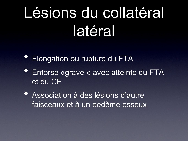 Lésions du collatéral latéral