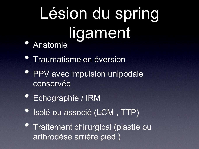 Lésion du spring ligament