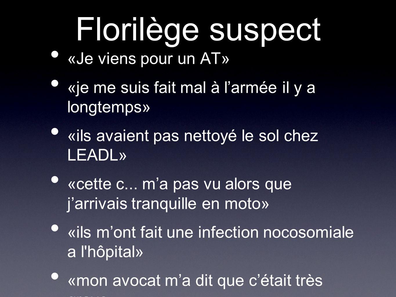 Florilège suspect «Je viens pour un AT»
