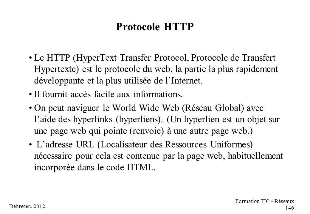 Protocole HTTP
