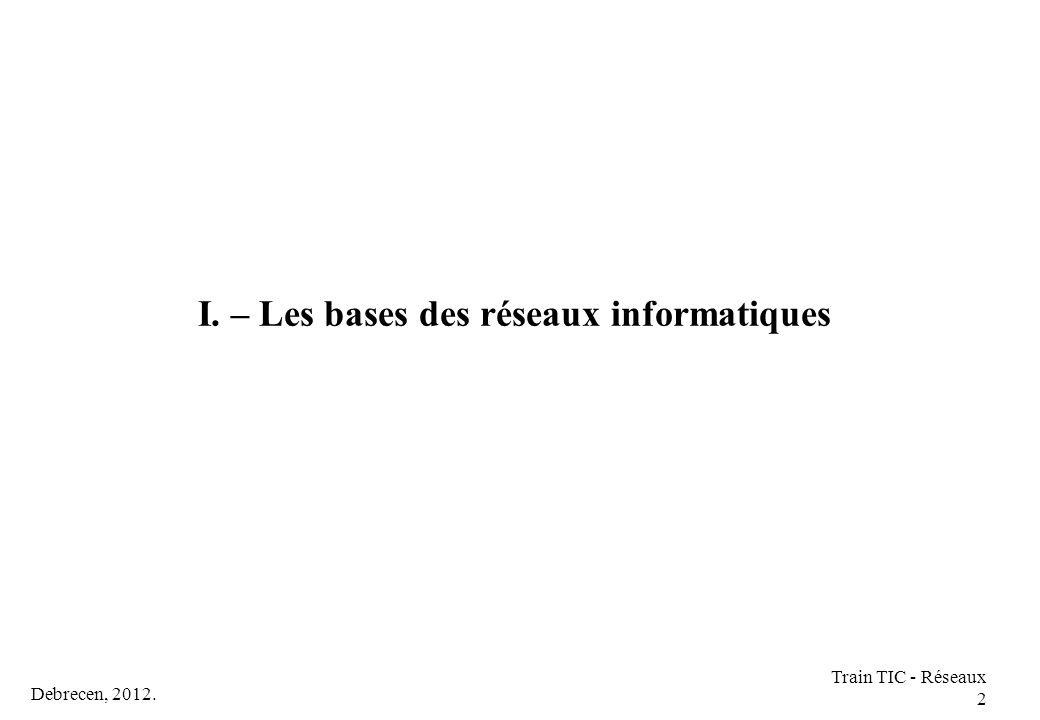 I. – Les bases des réseaux informatiques