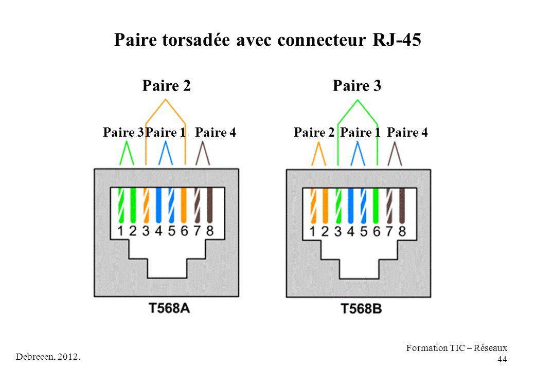 Paire torsadée avec connecteur RJ-45