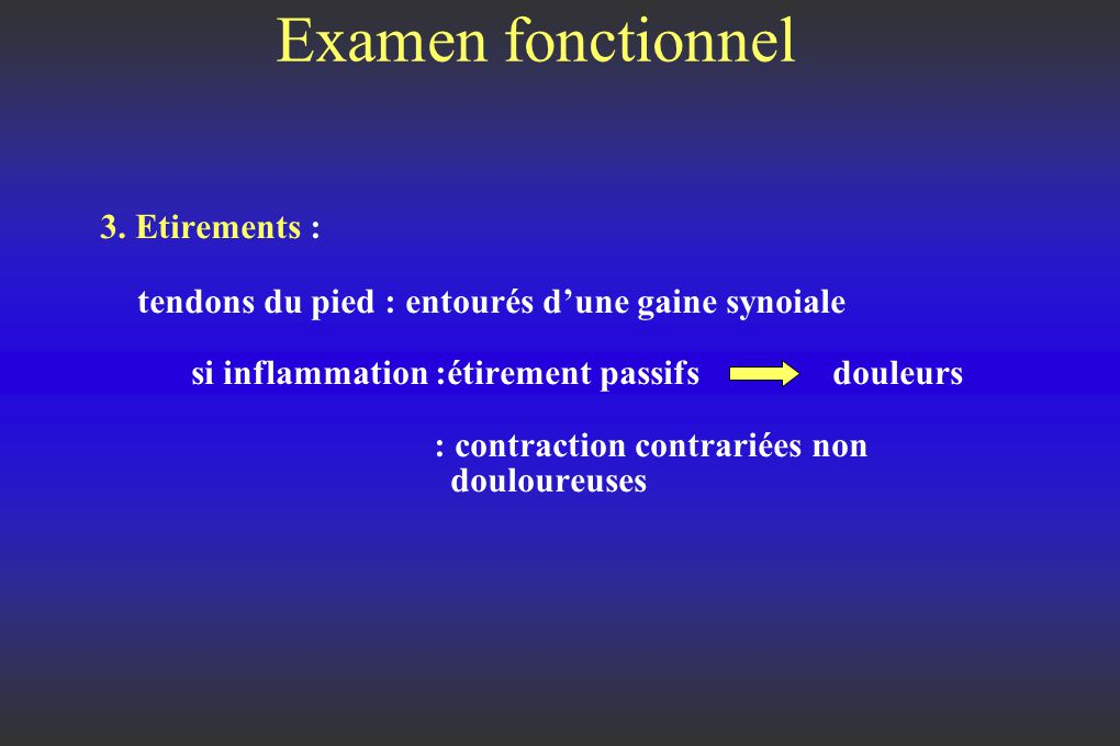 Examen fonctionnel