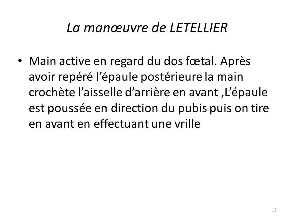 La manœuvre de LETELLIER