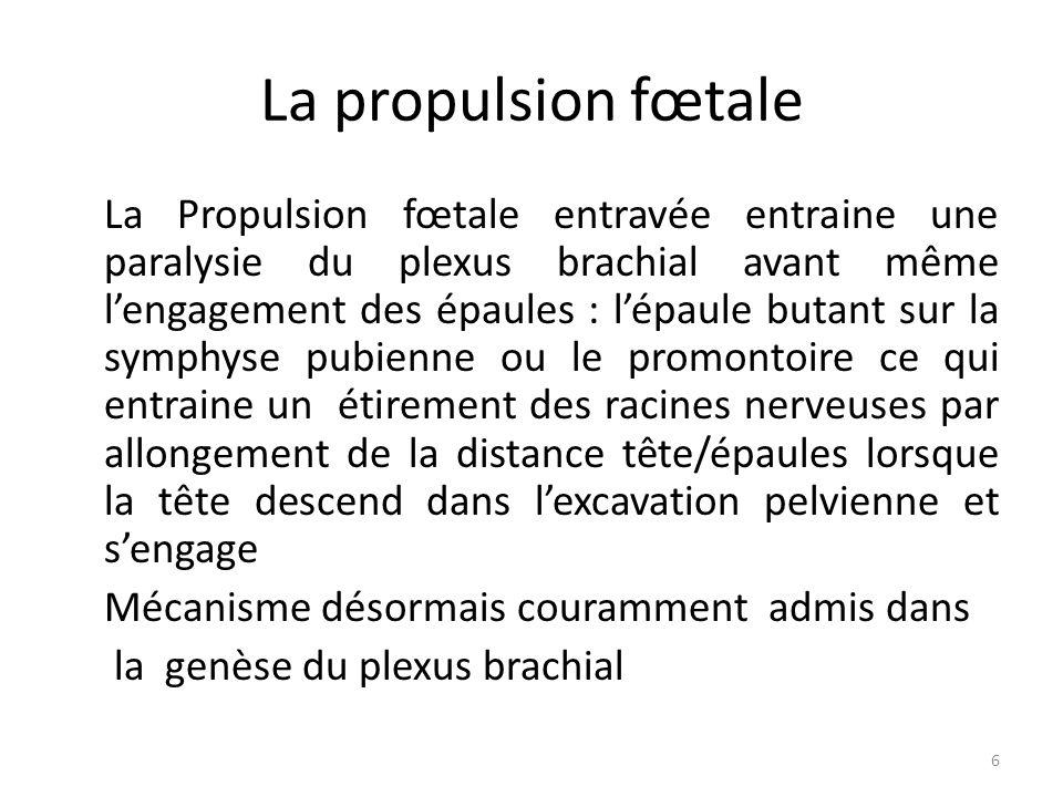 La propulsion fœtale