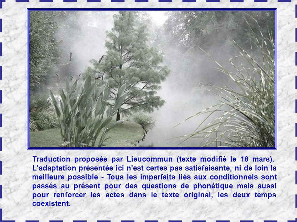 Traduction proposée par Lieucommun (texte modifié le 18 mars)