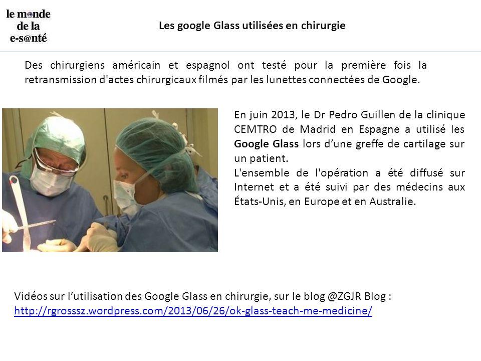 Les google Glass utilisées en chirurgie