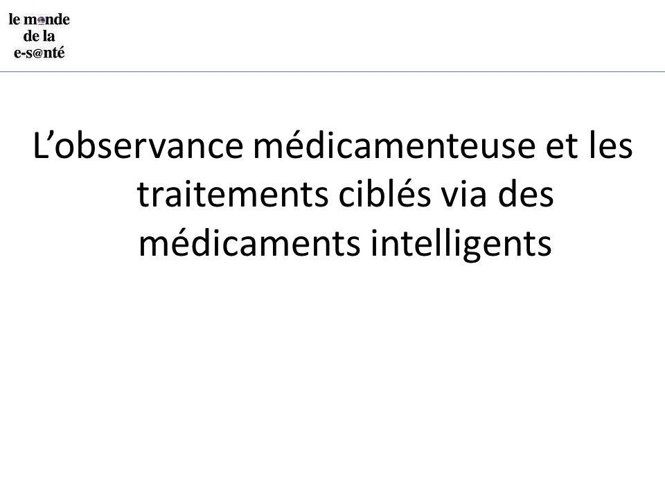 L'observance médicamenteuse et les traitements ciblés via des médicaments intelligents