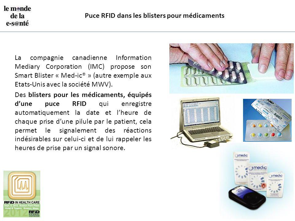 Puce RFID dans les blisters pour médicaments
