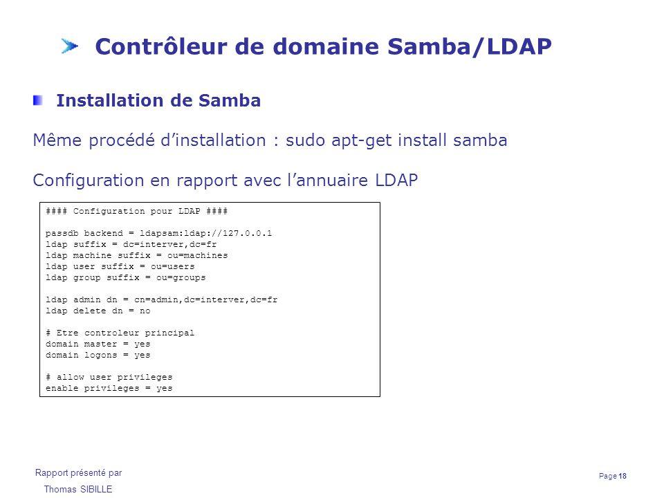 Contrôleur de domaine Samba/LDAP