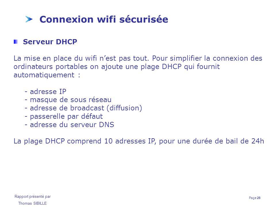 Connexion wifi sécurisée