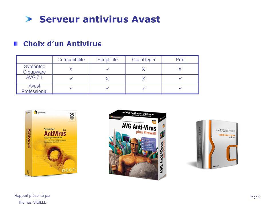 Serveur antivirus Avast