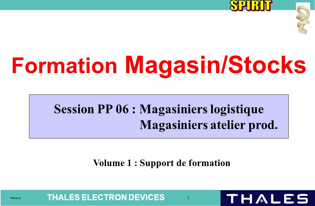 Formation Magasin/Stocks