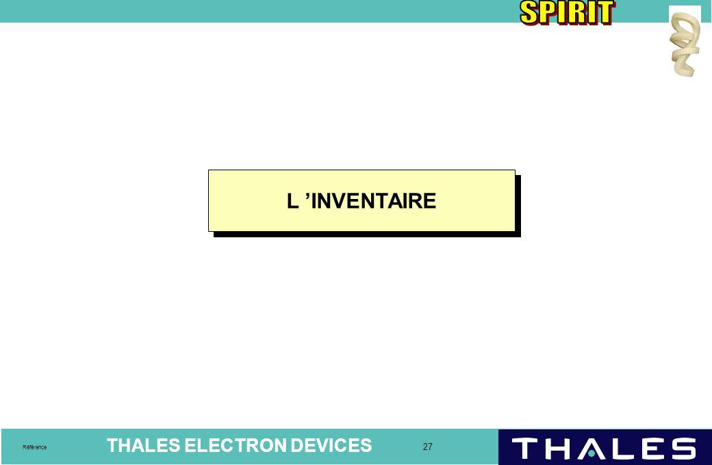 L 'INVENTAIRE