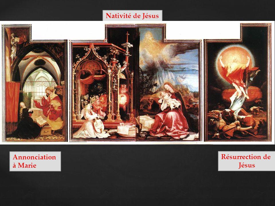 Nativité de Jésus Annonciation à Marie Résurrection de Jésus