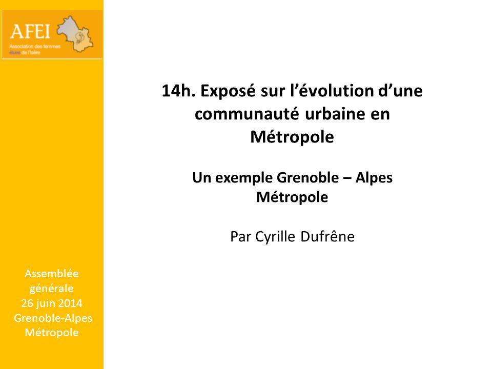 14h. Exposé sur l'évolution d'une communauté urbaine en Métropole