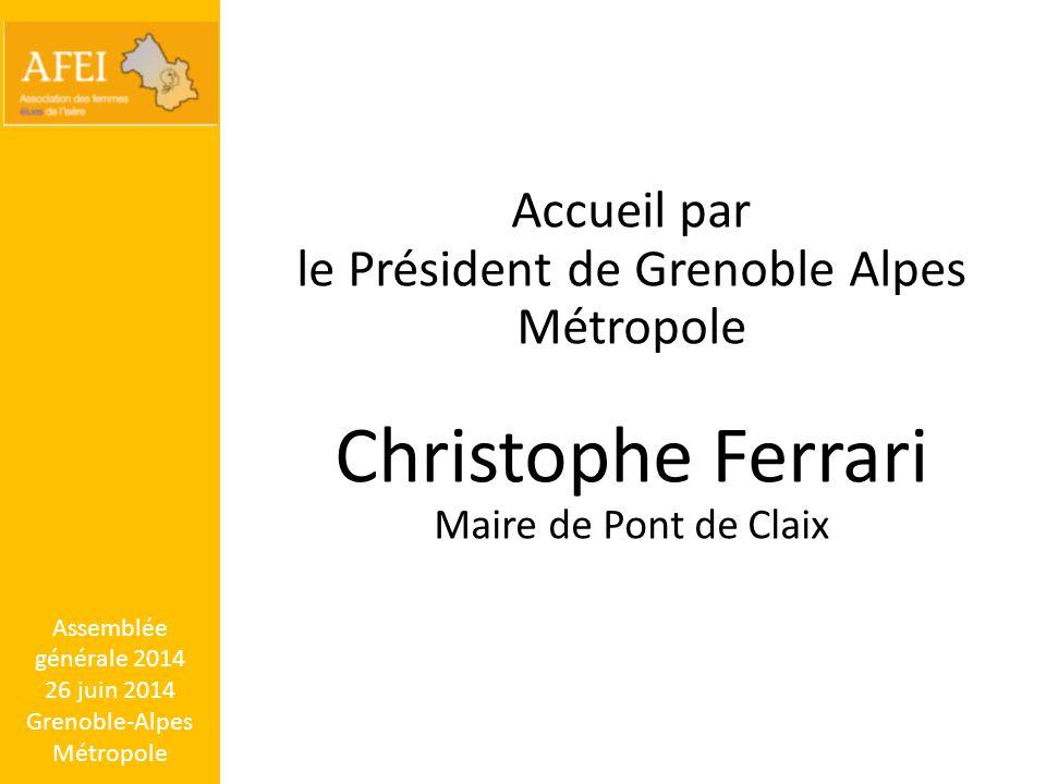 Christophe Ferrari Accueil par
