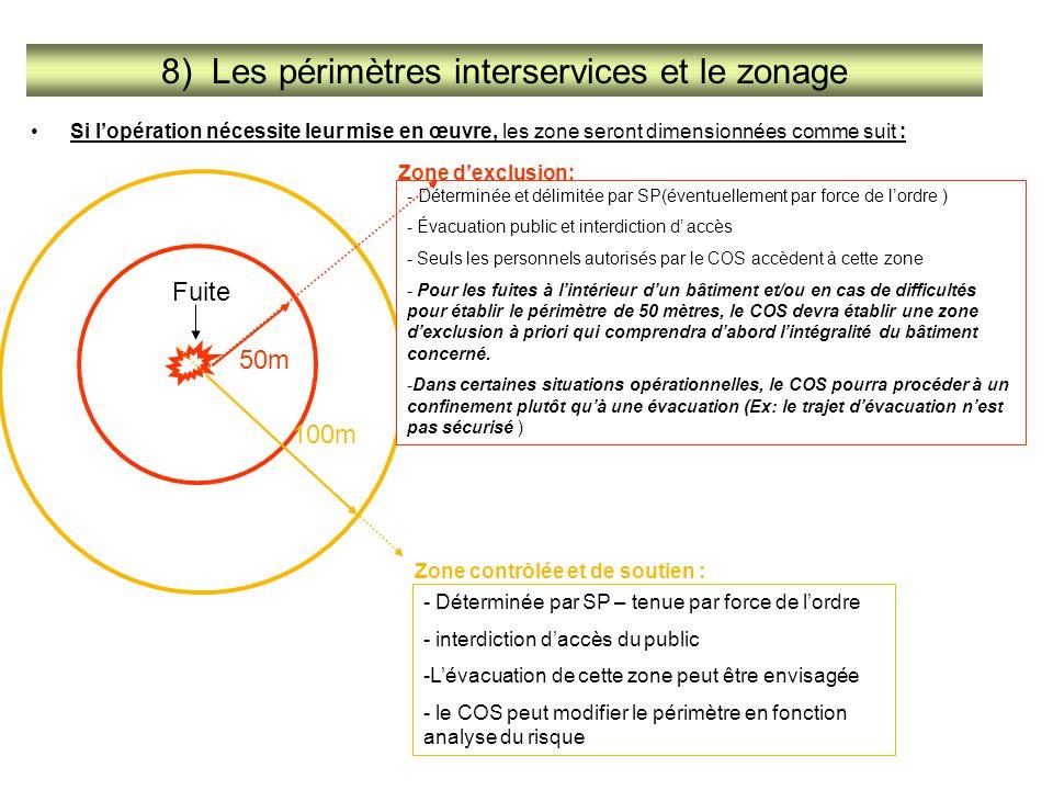 8) Les périmètres interservices et le zonage