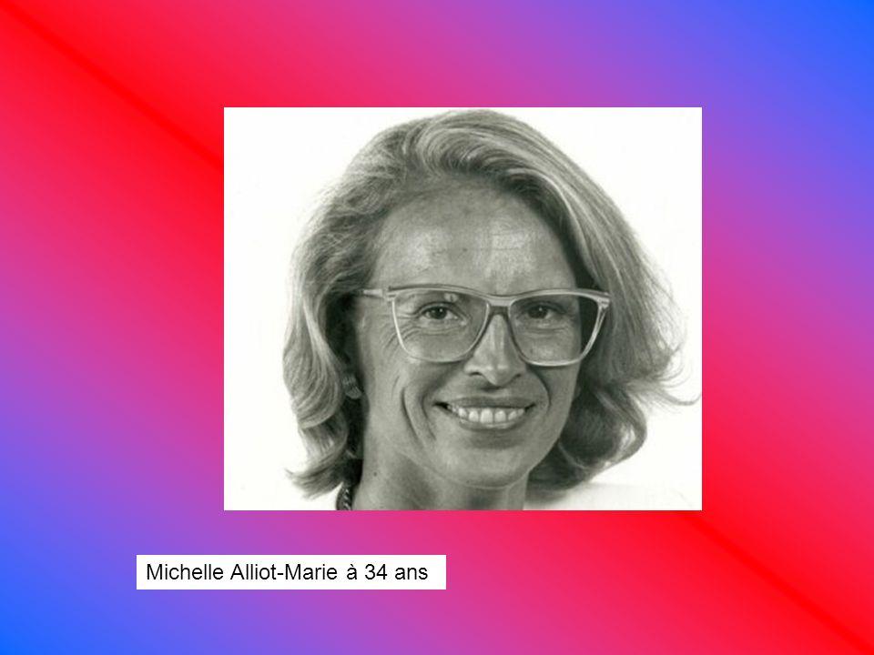 Michelle Alliot-Marie à 34 ans