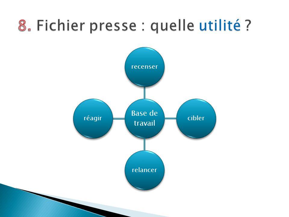 8. Fichier presse : quelle utilité