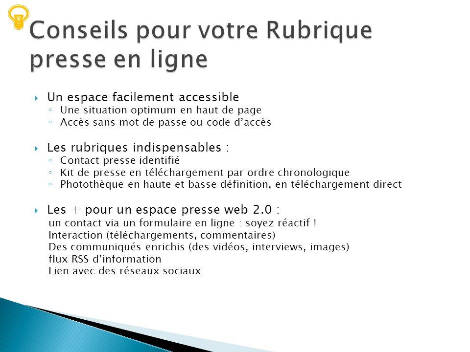 Conseils pour votre Rubrique presse en ligne