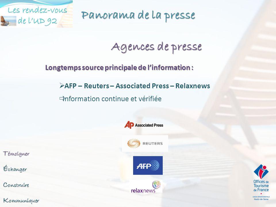 Panorama de la presse Agences de presse