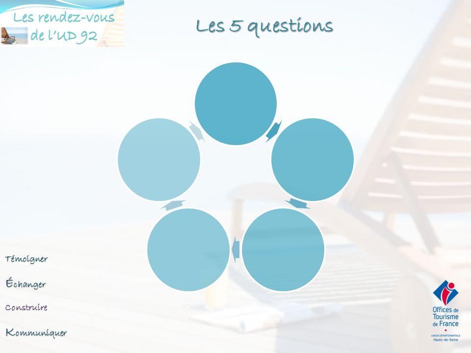 Les 5 questions Échanger Kommuniquer Témoigner Construire A QUI