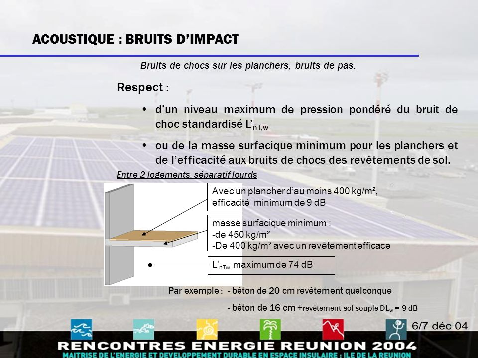 ACOUSTIQUE : BRUITS D'IMPACT
