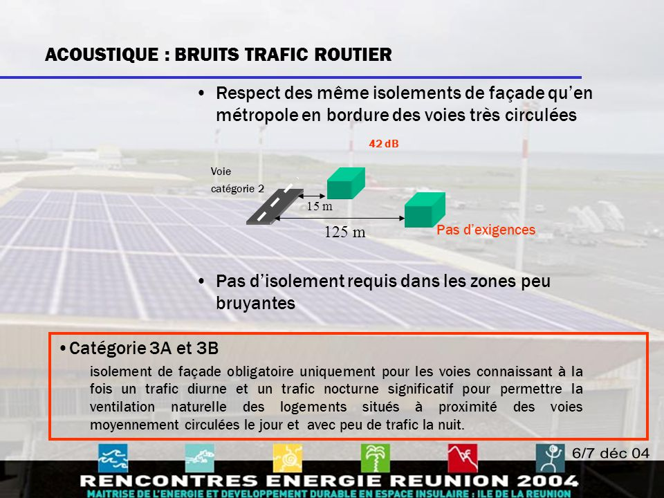 ACOUSTIQUE : BRUITS TRAFIC ROUTIER