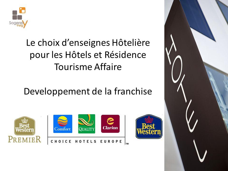 Le choix d'enseignes Hôtelière pour les Hôtels et Résidence Tourisme Affaire Developpement de la franchise