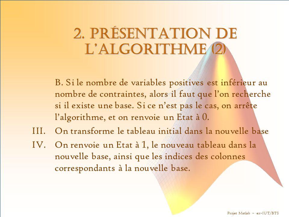 2. Présentation de l'algorithme (2)