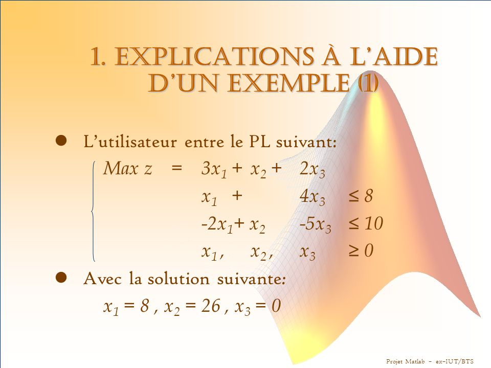 1. Explications à l'aide d'un exemple (1)